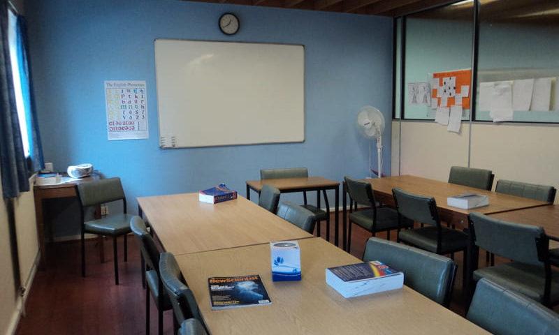 séjour en immersion salle de classe