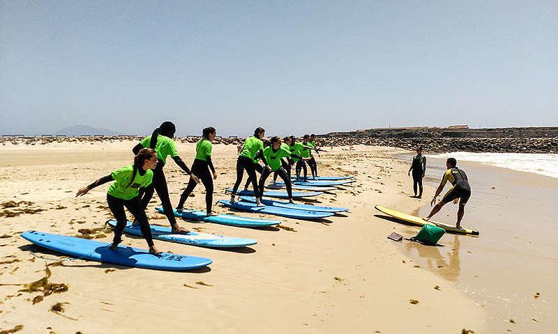 Activité surf immersion espagnol Malaga