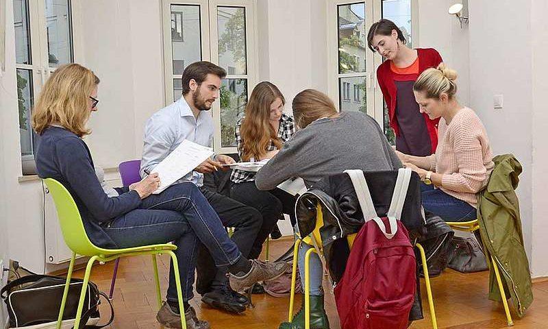 Groupe d'étudiants immersion linguistique allemand