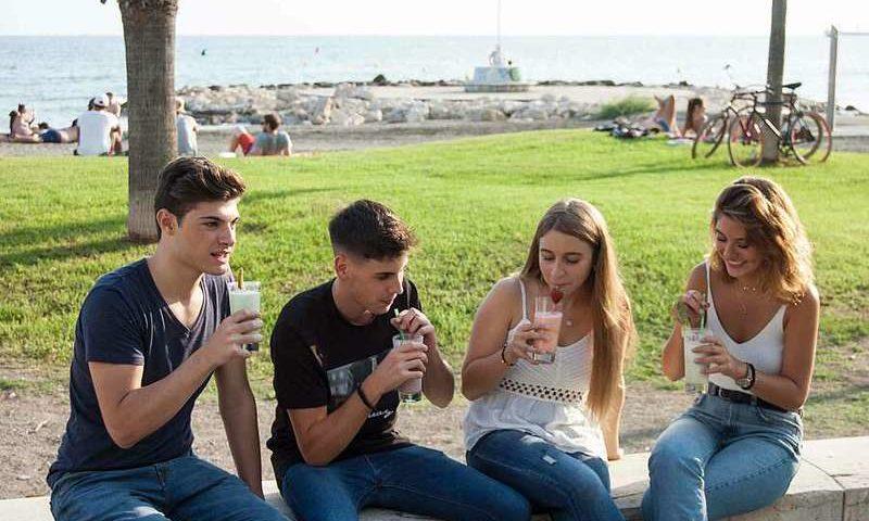 Groupe d'étudiants séjour linguistique Malaga